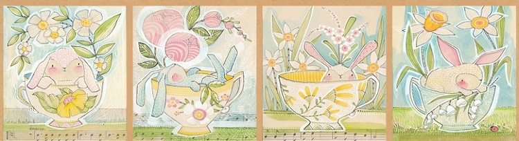 Promise of Spring Tea with Bunny Panel