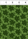 Winter Twist Tonal Floral Green