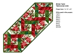 Red Winter Twist Table Runner Kit (Pattern NOT included)