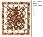 Red Winter Twist Quilt Kit (Pattern NOT included)
