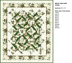 Green Winter Twist Quilt Kit (Pattern NOT included)