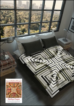 Antelope Canyon Quilt Kit featuring Texture-Graphix