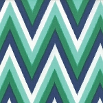 Color Me Happy Ikat Chevron Navy Emerald