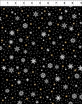 A Celestial Winter Black Small Snowflake