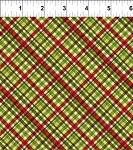 A Poinsettia Winter Plaid Green/Ren
