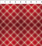 A Poinsettia Winter Plaid Red