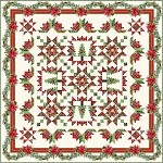 A Poinsettia Winter Quilt Kit