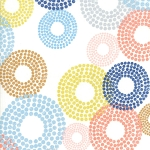 Breeze Dottie Circles White