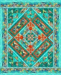 Calypso Quilt Kit Teal
