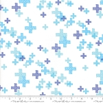 Modern Background - Colorbox Pluses White Periwinkle