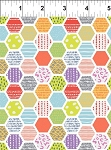 Doodle Blossoms Hexagons