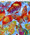 Dreamscapes 2 Blue Multi Large Butterflies
