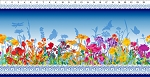 Dreamscapes 2 Blue Border Stripe