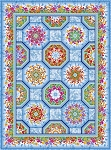 Dreamscapes 2 One Fabric Kaleidoscope Quilt Kit Blue Multi