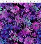 Floragraphix V Purple Allover Floral