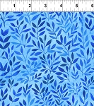Floral Menagerie Leaves Blue