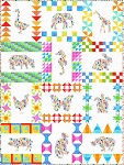 Floral Menagerie Quilt Kit (Pattern Included)