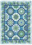 Haven Kaleidoscope Blue Quilt Kit