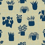 Home House Plants Cyan Tailored Cloth