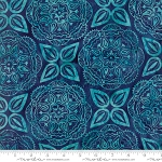 Longitude Batik Medallion Navy