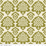 Lost & Found Christmas Damask Green