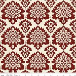 Lost & Found Christmas Damask Red
