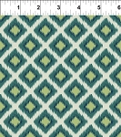 Mini Ikats Teal Tiles