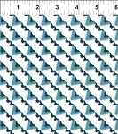 Mini Ikats Teal Triangles