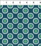 Mini Ikats Teal Circles