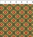 Mini Ikats Rust Jacquard