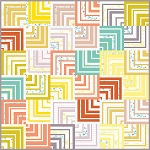 Retro Labyrinth Quilt Pattern