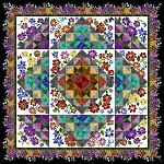 Rainbow of Jewels Block of the Month Quilt Kit