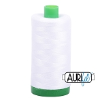 Aurifil White Cotton 40wt Thread