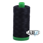 Aurifil Black Cotton 40wt Thread