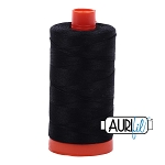 Aurifil Black Cotton 50wt Thread