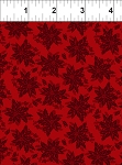 Winter Twist Tonal Floral Red