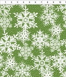 Winter Twist Snowflakes Green