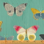 Wonder Newspaper Butterflies Aqua