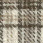Wool Fat Quarter Ecru Glens Plaid