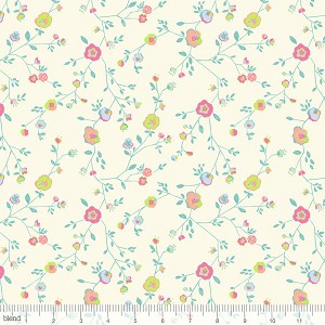 Garden Party Woodland Floral Ivory