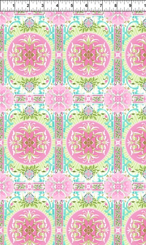 Treasures of Nature Aviary Tile Pink