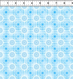 Treasures of Nature Floral Tonal Light Blue