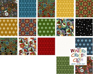 A Celestial Winter Fat Quarter Bundle