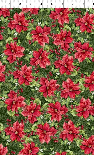 A Poinsettia Winter Poinsettias Red