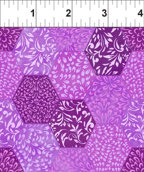 Ajisai Dark Purple Hexagons