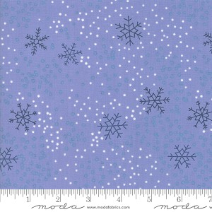 Chill Snowflakes Steel Blue