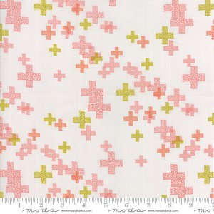 Modern Background - Colorbox Pluses Fog Peach