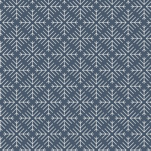 Curiosities Caught Snowflakes Navy