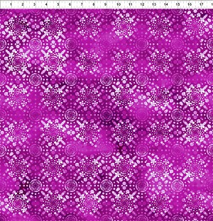 Dreamscapes 2 Fuchsia White Dot Burst Tile