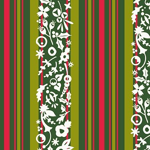 Holiday Stripe Mistletoe